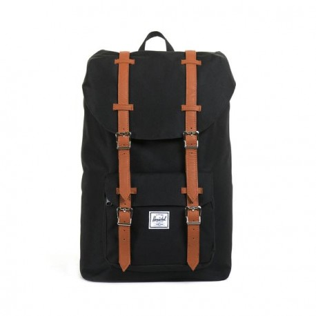 HERSCHEL LITTLE AMERICA MID VOLUME BLACK TAN
