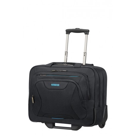 AT WORK PILOT CASE A ROULETTES ROLLING TOTE 88533 BLACK