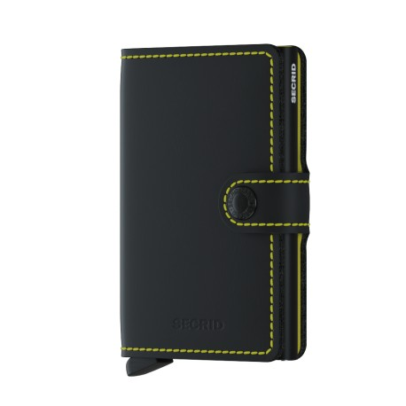 SECRID MINIWALLET MATTE BLACK YELLOW