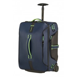 PARADIVER LIGHT 74780 BAGAGE ROULETTES ET SAC A DOS NIGHT BLUE FLUO GREEN 8477
