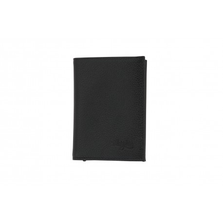 MARGENE LUMINY PORTEFEUILLE RFID PROTECTION CUIR GRAINE NOIR