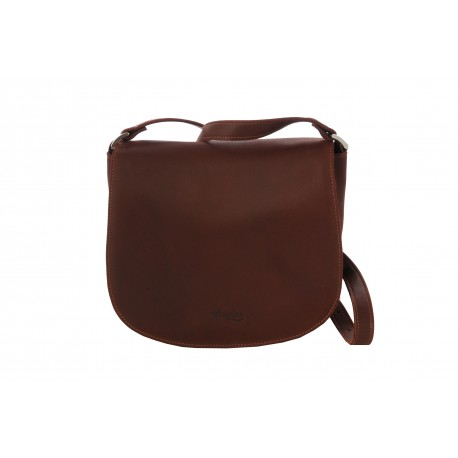 CASSIS SAC BESACE CUIR A BANDOULIERE GOLD