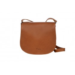 CASSIS SAC BESACE CUIR A BANDOULIERE GOLD CUIR VEGETAL